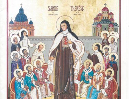Icóne de Sainte Thérese de l'enfant-Jésus de la sainte-face, docteur de l'église