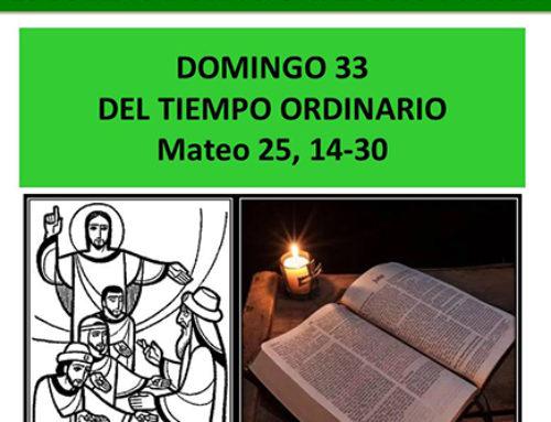 Lectio divina: Mateo 25, 14-30