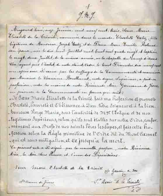 Escritos de santa Isabel de la Trinidad